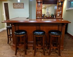 Finished Bar Gallery - Hardwoods Incorporated Home Bar Plans, Basement Bar Plans, Basement Bar Designs, Home Bar Designs, Basement Renovations, Basement Ideas, Basement Bars, Basement Ceilings, Basement House