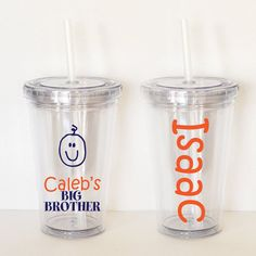 Proud Big Brother Personalized Acrylic Tumbler by SweetSipsters, $12.00