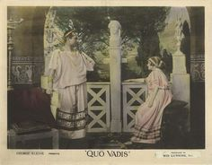 Lobby card for the 1912 silent version of Quo Vadis.