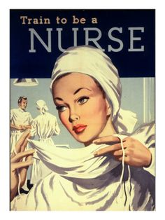 Nurses and Hospitals, UK, 1950 Premium Poster