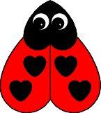 Heart Ladybug Paper Craft