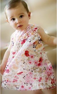 Выкройка детского платья для девочки.     sewing pattern