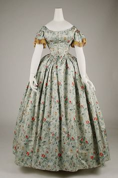 Evening dress (image 2) | French | 1850s | silk | Metropolitan Museum of Art | Accession Number: 1978.310.1