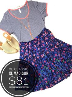Mix and match any LulaRoe style for a fun, versatile wardrobe! Layering, pattern-mixing, and superior comfort are what the LulaRoe women's clothing line are all about! Join my Facebook VIP Shopping Group for more information, or to shop my extensive LulaRoe inventory! https://www.facebook.com/groups/RhiannonsLuLaRoe/ Sarah · Carly · Leggings · LulaRoe Skirts · LulaRoe Shirts · LulaRoe Dresses · Joy · Shirley · Lynnae · Gigi · Lindsay · Maxi · Azure · Madison · Gigi · Cassie