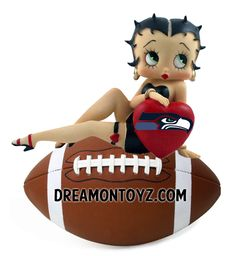Betty Boop LOVES the Seattle Seahawks  For more Betty Boop Sports pictures, go to: http://bettybooppicturesarchive.blogspot.com/search/label/Sports ~and~ https://www.facebook.com/bettybooppictures