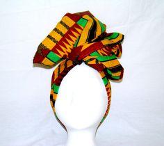 Multicolor Kente African Wax Print Headwrap by treasureeutopia, $22.50