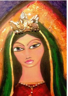 La Madonna art print 5 x 7 by SacredYolisdesigns on Etsy, $10.00