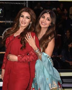 Shilpa Shetty and Raveena Tandon Re - live their good old friendship on the sets of Superdancer Chapter 3 - HungryBoo Old Film Stars, Old Friendships, Shilpa Shetty, Chapter 3, Good Old, Leather Jacket, Actresses, Jackets, Live