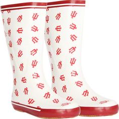 Indiana Hoosiers Women's Cardinal All-Over Print Rubber Rain Boots - Size 8