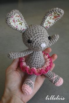 """Little ballerina-bunny, crochet amigurumi toy. via Etsy."" #Amigurumi  #crochet"