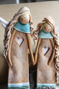 dodatki - dekoracje - anioły i figurki-Anielskie Przyjaciółki -  Boże Narodzenie