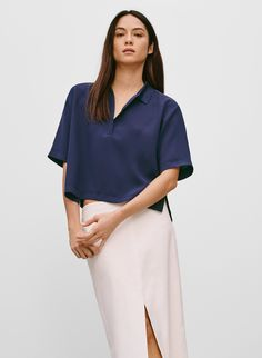 Babaton Darcell blouse, available at Aritzia.com.
