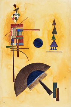 Kandinsky Painting - Halbkreis Semicircle by Wassily Kandinsky Kandinsky Art, Wassily Kandinsky Paintings, Klimt, Tinta India, Cavalier Bleu, Art Moderne, Art And Architecture, Monet, Art Forms