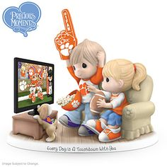 Every Day Is A Touchdown With You Clemson Tigers Figurine
