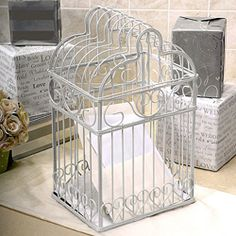 """Wedding Bird Cage -for cards and """"money presents"""""""