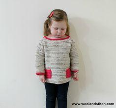 Wool and Stitch: Mini Kids Pocket Sweater - Free Crochet Pattern