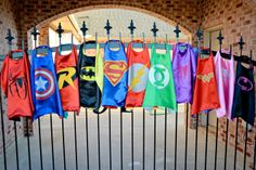 Party Pack FIFTEEN 15 SUPERHERO CAPES Superman by baileysblossoms, $135.00