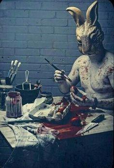 Dark Art, Happy Easter, Easter Bunny, Easter Eggs, Creepy Images, Creepy Art, Creepy Paintings, Horror Photography, Dark Photography