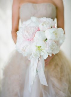 Blush and white peonies: http://www.stylemepretty.com/2015/06/10/the-25-prettiest-peony-bouquets/