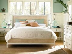 Get inspired by Coastal Bedroom Design photo by Joss & Main. Joss & Main lets you find the designer products in the photo and get ideas from thousands of other Coastal Bedroom Design photos. Bedroom Sets, Home Bedroom, Bedroom Furniture, Bedroom Decor, Queen Bedroom, Furniture Ideas, Wicker Bedroom, House Furniture, Summer Bedroom