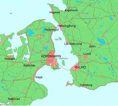 Oresund Between Denmark & Sweden