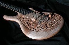 william jeffrey jones guitars - Nocturne for iO Guitar Pics, Guitar Art, Cool Guitar, Custom Electric Guitars, Custom Guitars, Guitar Storage, Guitar Youtube, Guitar Tattoo, Cigar Box Guitar