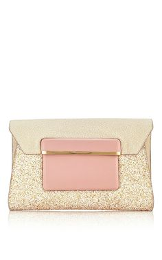 Leather and Glitter Envelope Clutch by Mary Katrantzou Now Available on Moda Operandi