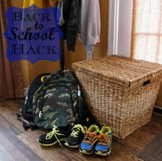 Hack Description: Prepare as much as possible the night before. Have all paperwork, homework and books in your child's backpack ready to go. Sign all of the paperwork the night before as well. Place backpacks and shoes by the front door. This eliminates the search and find in the morning! #Johnsonville #morninghacks