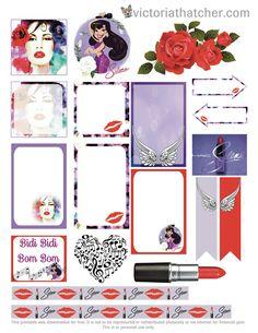 Free Selena Planner Stickers | Victoria Thatcher