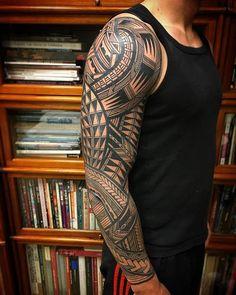Stunning Tribal Tattoos By Jeroen Franken Tatau Tattoo, Hawaiian Tribal Tattoos, Tribal Tattoos For Men, Tribal Sleeve Tattoos, Irezumi Tattoos, Boy Tattoos, Samoan Tattoo, Trendy Tattoos, Maori Tattoo Arm