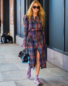 Fashion Photography Street Style New York 22 Ideas Plaid Fashion, Look Fashion, Street Fashion, Womens Fashion, Fashion Sets, Ladies Fashion, Celebrities Fashion, Street Looks, Look Street Style