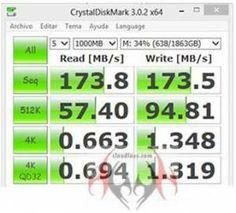 Review Seagate Expansion Desktop 2TB - crystaldiskmark