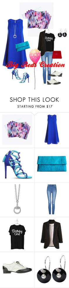 """""""Someone's Birthday Outfits"""" by bigreds ❤ liked on Polyvore featuring Nikki Strange, Sans Souci, Carvela, Saveén, Gucci, Chanel, Trollbeads and C.Nicol"""