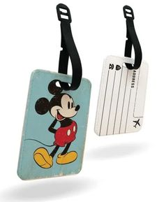Travel in Style With Mickey Mouse Passport Cover and Luggage Tag Small World Vacations, Disney Trips, Disney Travel, Disney Cast Member, Disney College Program, Personalized Luggage Tags, Mickey Mouse, Disney Mickey, Disney Addict