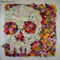 faux flower art! Why the hell haven't I done this yet?!