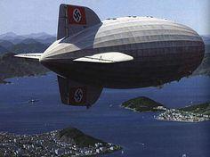 unbekanntersoldat:  The Hindenburg over Botafogo Cove, Guanabara Bay, Rio de Janeiro - Brazil in 1936.