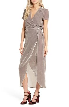 Free shipping and returns on Wayf Next to You Velvet Wrap Dress at Nordstrom.com. Supremely plush and totally feminine, this romantic velvet wrap dress is gracefully shirred near the shoulders and cinched at the waist with a slender tie.