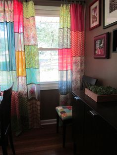 Anna Maria Horner voile curtains by StitchedInColor, via Flickr