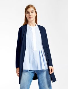 Weekend Max Mara NIAS blu marino: Cardigan in viscosa stretch SPEDIZIONE GRATUITA