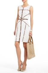 ANDREEA LACE SHEATH DRESS: BCBG