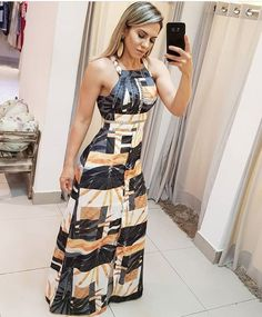 Shop Sexy Trending Maxi Dresses – Boutiquefeel offers the best women's fashion Maxi Dresses deals Dress Outfits, Casual Dresses, Fashion Dresses, Girl Fashion, Womens Fashion, How To Roll Sleeves, African Dress, Pattern Fashion, Beautiful Dresses