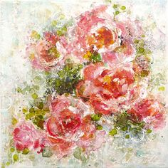 """""""Bloom!"""" original mixed media painting by Laly Mille"""