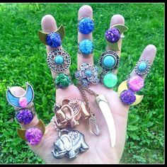 Hand full of goodies from @DIESELBOUTIQUE  stackable rings crystal necklaces check us out Link in my bio.  #love #beautiful #beauty #summer #rings #ring #jewelry #boho #handmade #gypsy #grunge  #hippie #hipster #festival #fashion #girl #druzy #Style  #turquoise #crystal  #crystals #california #fashionblogger #freespirit #tribal #goodvibes #instagood #ootd #travel #elephant