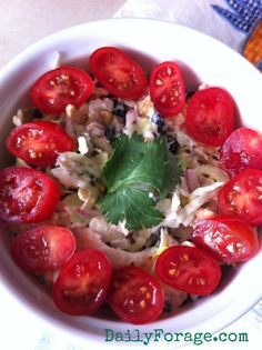 Summer Salad w:Tuna Blueberries & Cashews sm pic