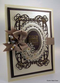 John Next Door: Spellbinders Heartfelt Creations, Diy Cards, Your Cards, Spellbinders Cards, Anna Griffin Cards, Marianne Design, Partys, Christmas Cards, Primitive Christmas