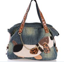 Casual Cute Contrast Color Spliced Cartoon Dag Patch Denim Handbag for big sale!Good Quality Brand New Women Bag Fashion Denim Handbags Female Jeans Shoulder Bags Unique Cartoon Womens Tote Bags Bolsas(China (Mainland))Trendy Chain and Color Block De Sacs Tote Bags, Dog Tote Bag, Denim Tote Bags, Denim Handbags, Denim Purse, Jeans Denim, Dog Purse, Purse Wallet, Crossbody Bags