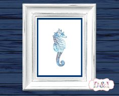Seahorse - Wall Art Print ~ Instant download, JPG PDF Printable