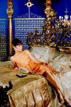 BIG BENN KLINGON (summers-in-hollywood:  Audrey Hepburn on the set...)