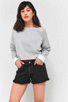 Urban Outfitters Slash Neck Sweatshirt