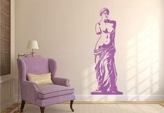 Venus de Milo Wall Sticker. The ancient Greek statuette symbolizing the goddess of beauty and love is an astounding piece of wall design. its strong projection and twisted posture brings in an insistent note of marvelousness on your decors. http://walliv.com/venus-de-milo-wall-sticker-wall-art-decal
